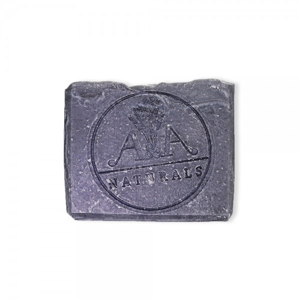 activated charcoal soap front view