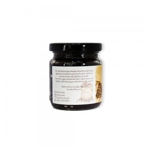 arabica coffee scrub glass jar side view