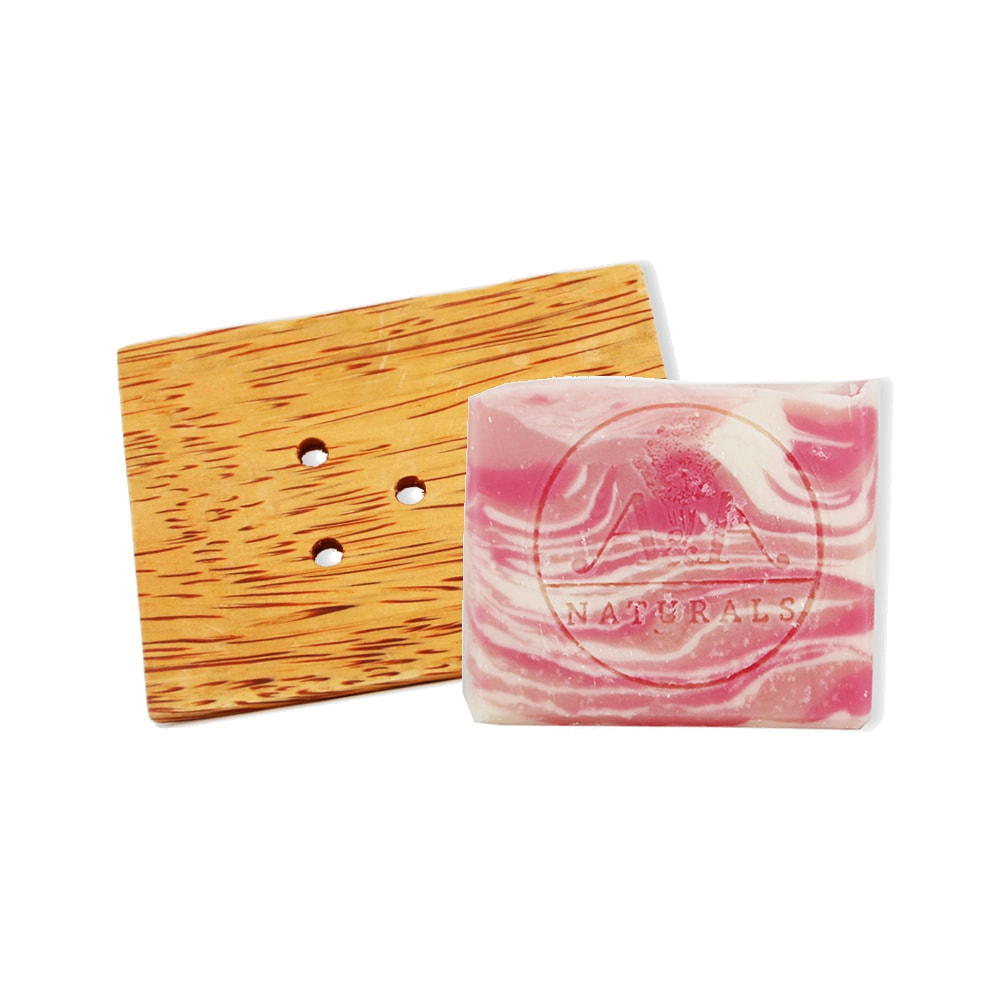 Rose Geranium Soap and Soap Dish AA Naturals