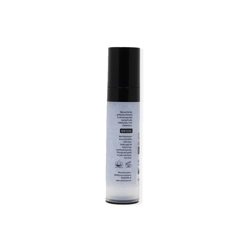 Clarifying Face Cleanser AA Naturals bottle side view