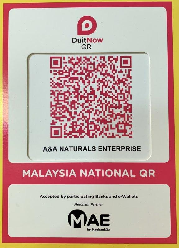 Duit Now QR Code AA Naturals